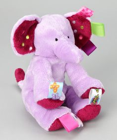 With vibrant tags all around, this plush toy acts as a huggable pal while also providing sensory stimulation that encourages fine motor skill development. Low-maintenance care guarantees this to be a friendship that's built to last.3'' Wx 15'' Hx 8'' D100% polyesterMachine wash; tumble dry