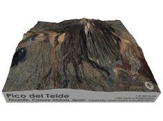 Pico del Teide, 1:50,000 3d printed