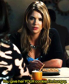 Hahaha we love that Hanna is a foodie! So are we! #PLLgifs