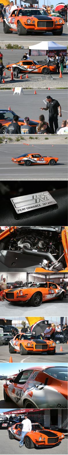 Brian Hobaugh at SEMA with 1973 Camaro and Later Wins @OPTIMA® Batteries Ultimate Street Car Challenge #knfilters