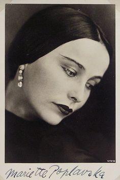 Mariette Poplavska - 1934 German Vaudeville Kabaret Album.