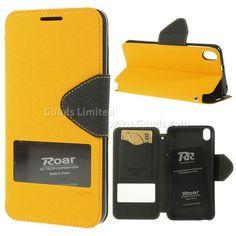 Roar Korea Diary View Window Leather Case for HTC Desire 816 D816 - Yellow
