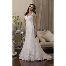 Vestido de Noiva Evasê em Tule e Renda - ENC133-Vestidos de noiva sob encomenda