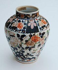 Japanese Porcelain Arita Imari Vase, 18th C.