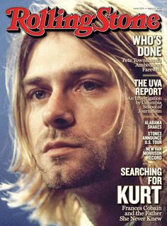 Kurt Cobain: Listen to an Unheard Song, Go Inside the New Issue | Rolling Stone <3 i just put ths cover on my man cave wall