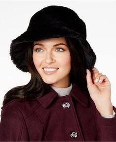 2d28b60ec5b7d Nine West Reversible Faux-Fur Cloche Cloche Hat
