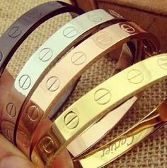 These are my ultimate favourties. One day I will have one... #Cartier #bracelet #accessories