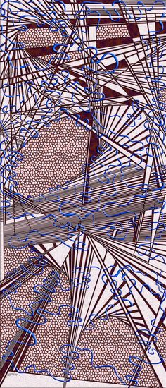 sirocco - meditation labyrinth, one ribbon interweaving, unbroken, never crossing itself, infinity in freeflow, coiling in and around the tiles of a massive optical obsession, set in Virtual Shattered Glass by Douglas Christian Larsen - http://www.imagekind.com/sirocco_art?imid=2a869825-c9a3-4648-a525-6f78a2a8bbea