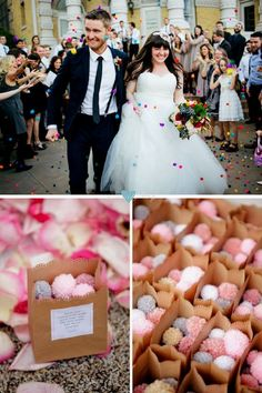 mini pompones para lanzar boda