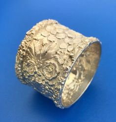 The soft, warm, original finish is present, with no buffing or machine polishing. Silver Napkin Rings, Napkins, Rings For Men, Sterling Silver, Rose, Vintage, Ebay, Jewelry, Men Rings