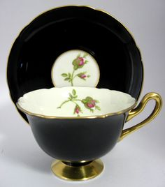 This is a Shelley China, England cup and saucer in the English Rose pattern…
