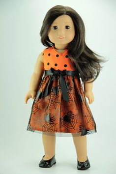 American Girl doll clothes Spider Halloween by DolliciousClothes, $12.00