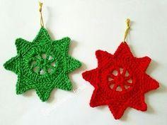 Estrelas Lindas Para a Decoração do Natal! | Tecendo Artes em Crochet | Bloglovin