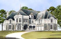 Barrmoore House Plan Front Rendering