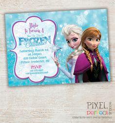 Girls Frozen Birthday Invitation Frozen by PixelPerfectShoppe, $25.00