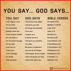 You Say: I can't figure it out God Says: I will direct your steps Bible Verse: Proverbs Trust in the Lord with all your heart, And lean not on your own understanding; In all your ways acknowl. Prayer Scriptures, Bible Teachings, Bible Prayers, Bible Verses Quotes, Jesus Bible, God Jesus, Bible Study Notebook, Scripture Study, Inspirational Prayers