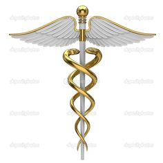 Golden caduceus medical symbol — Stock Photo © Maksym Mzhavanadze #6007340