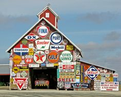 Love the signs on this barn...I wonder where this is?