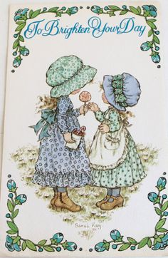 Vintage Get Well Card    UNSigned  Sarah Kay  Girls by midwickhill, $4.00