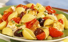 Barilla® Large Shells Pasta Salad with Swordfish, Olives, Capers & Oven Dried Tomatoes