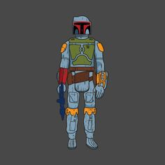 Awesome 'Distressed+VIntage+Kenner+Boba+Fett+action+Figure' design on TeePublic!