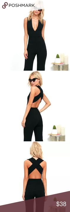 """NWT Lulu's Black Jumpsuit NWT Lulu's """"Thinking Out Loud"""" Black jumpsuit.  Never worn. Perfect Condition.   Can see more photos on lulu's website if needed. Lulu's Pants Jumpsuits & Rompers"""