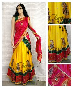 Ethnic south Indian attire of Long skirt and by CharviArtStudio, $420.00