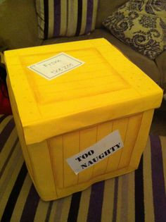 World book day - Dear Zoo! Covered toy box in yellow card (using spray mount to stick it to the side) with wooden crate markings drawn on and shaded with brown colouring pencil. DS will never want to get out!