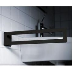 towel rail- Handtuchhalter Radius Puro towel holder black matt for gluing Radius DesignRadius Design - Astro Lighting, Wall Lighting, Steampunk Accessoires, Shelves Above Toilet, Towel Rail, Night Lamps, Mirror With Lights, Towel Holder, Bathroom Fixtures