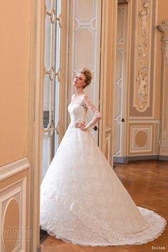 Jillian 2015 Wedding Dresses | Iris Bridal Collection | illusion long sleeve wedding dress