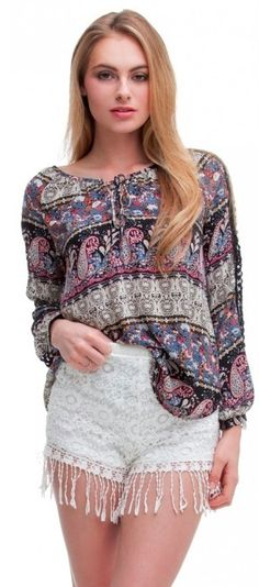 BohoPink - Lush Find A Way Black Paisley Peasant Top, $44.00 (http://www.bohopink.com/lush-find-a-way-black-paisley-peasant-top/)
