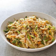 Sauteed cabbage with miso and scallion