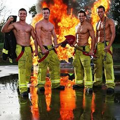 Say G'day to the firefighters of New South Wales.   15 Sizzling Hot Pictures Of Australia's Fittest Firefighters
