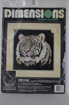 #Dimensions #3976 #WhiteTiger  #VINTAGE #No #Count #Cross #Stitch#*SEE CONDITION* #Dimensions