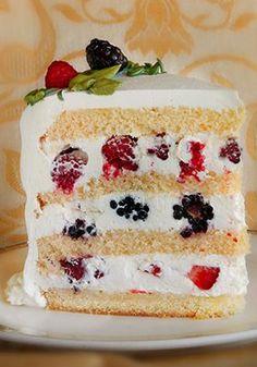 Triple Berry Cake
