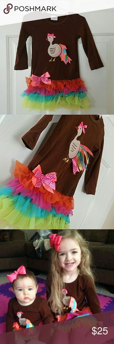 Toddler thanksgiving dress Great condition! Boutique style dress! Dresses