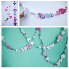 free printable valentine heart garland: download from may designs!
