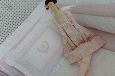 Kit de Berço Menina Rosa e Bege