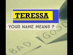 Teressa -  Name Meanings - Personality Traits - Insights