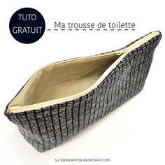 auto trousse de toilette à télécharger gratuitement sur notre site ^^ http://arrow-workshop.com/tissus-patrons/3815-tutoriel-trousse-de-toilette.html