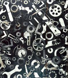 """Józef ROBAKOWSKI (ur. 1939)  Z cyklu """"Termogramy"""", 2005 technika własna, papier, 70 x 60 cm; opisana na odwrocie: J. Robakowski / Z cyklu: """"Termogramy"""" / Gorące obrazy / 2005 / (technika własna)"""