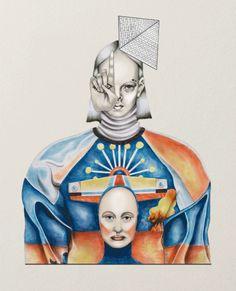 Ilustração fantástica de Tara Dougans, ilustradora canadense, que mistura moda, tecnologia e misticismo. uma mistura estático e móvel.    Para ver a imagem movel acessem:    http://www.taradougans.com/content/2.projects/12.2012/5.gif    http://www.taradougans.com/content/2.projects/12.2012/1.gif