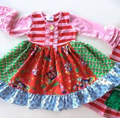 ceb0317259eb Mickey Mouse Minnie Mouse Disney Christmas dress Momi boutique Ruffle  Pants, Striped Leggings, Disney