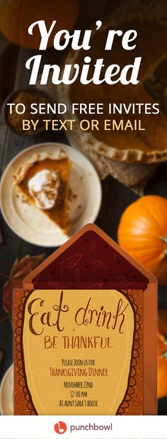 Send free Thanksgiving invitations by text or email and get RSVPs instantly! Even though I never send invitations, I love this idea! Thanksgiving Appetizers, Thanksgiving Side Dishes, Thanksgiving Recipes, Cork, July 4 Birthdays, Celery Juice Benefits, Mini Pumpkin Pies, Thanksgiving Invitation, Online Invitations