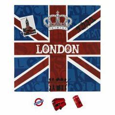 Toile magnétique Bleu/rouge - London - Toiles décoratives - Affiches et déco murale - Salon et salle à manger - Décoration d'intérieur - Ali...