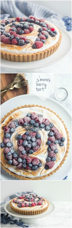 I loved the contrast between all the sweet s'mores goodness and those fresh summer berries. Definitely making this S'mores Berry Tart again for the fourth! ~ http://bakingamoment.com