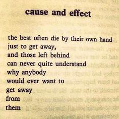 Bukowski- cause and effect