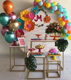 25 Balloon Ideas For Party 25 Ballon-Ideen für Party Balloon Decorations, Birthday Party Decorations, Baby Shower Decorations, Balloon Ideas, Birthday Parties, Decoration Evenementielle, Teen Decor, Flamingo Birthday, Shower Party