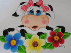 Decoupage Vintage, Cow Pictures, Pictures To Paint, Cow Painting, Fabric Painting, Rock Crafts, Diy And Crafts, Elephant Quilt, Wood Craft Patterns