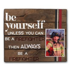 Stenciled Firefighter Photo Pallet